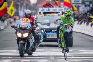 Sagan y su caballito en meta / Foto oficial