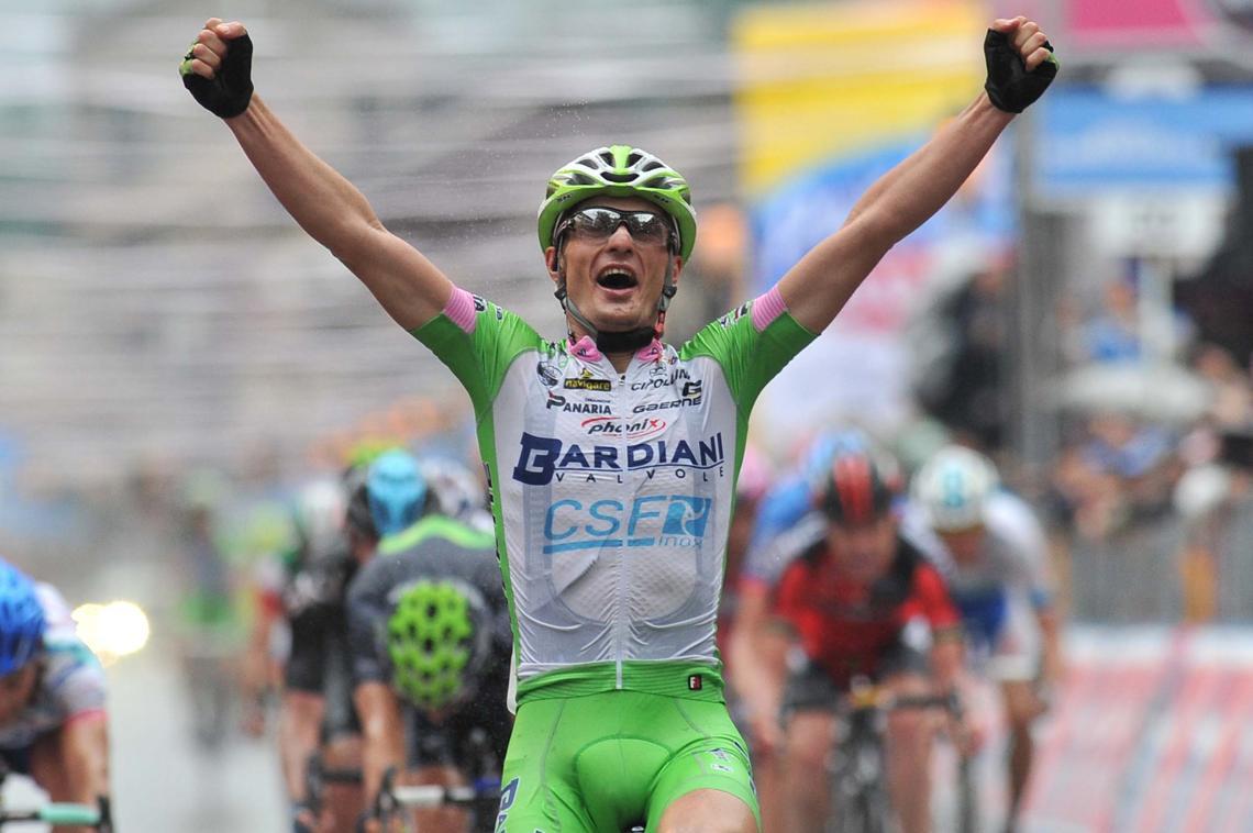 El italiano celebra su éxito / Foto Giro Italia