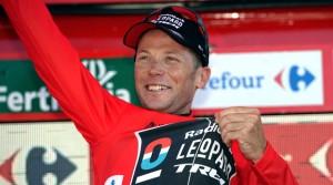 Horner, en un podio de la Vuelta © Unipublic