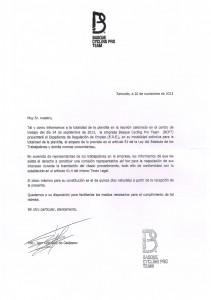 La carta de BPCT
