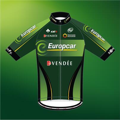 El maillot 2014 © Europcar