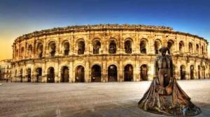 El coliseo romano y plaza de toros de Nîmes
