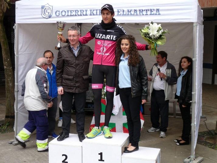 Soler, en el podio de Urretxu.
