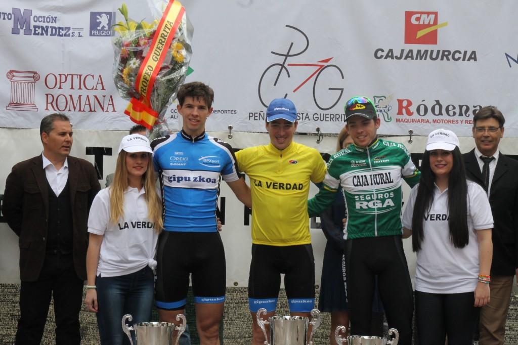Los tres mejores del Trofeo Guerrita. © RFEC