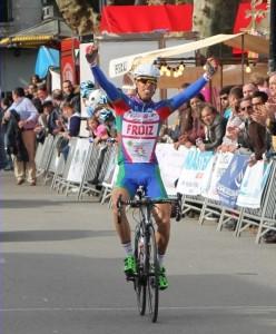 Pedro Merino, entrando en meta. © FGC