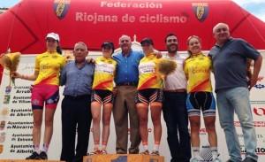 Líderes de la Copa de España de féminas tras la prueba de La Rioja. © RFEC
