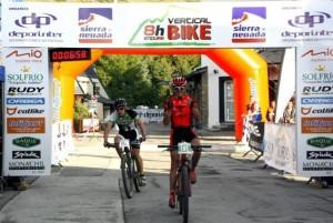 Manuel 'Triki' Beltrán, en la meta de la I Vertical Bike.