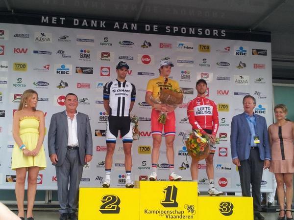 El podio © Campeonato Flandes