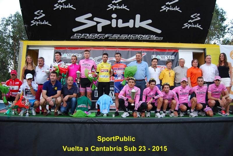 Podio final de la Vuelta a Cantabria 2014.