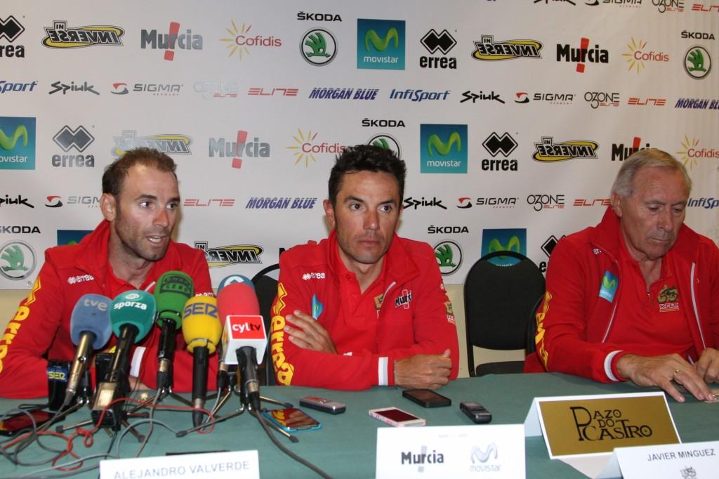 Valverde, Purito y Mínguez © RFEC