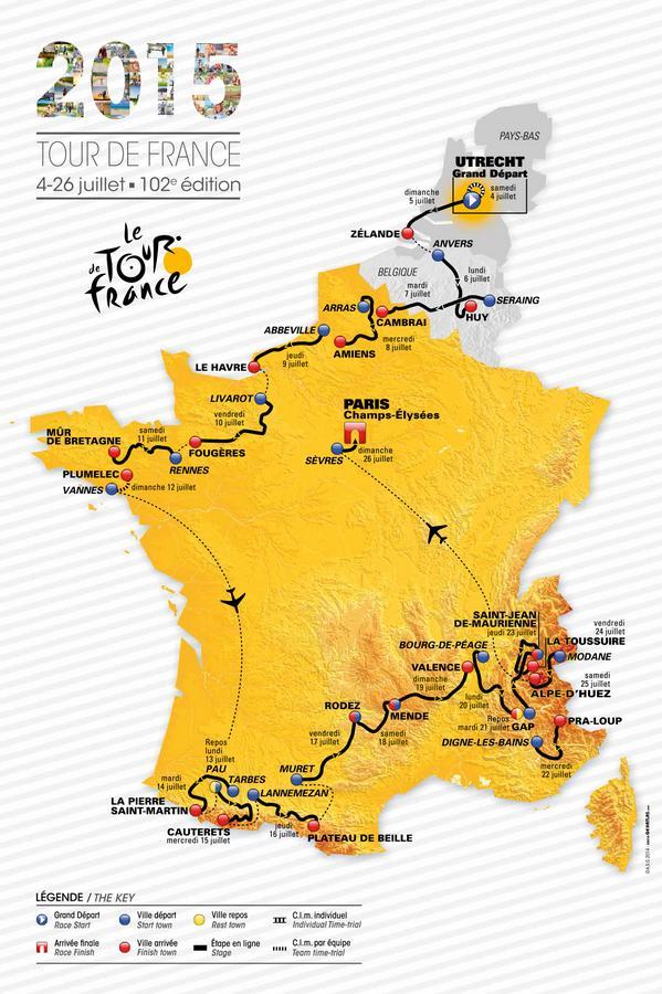 El mapa oficial © Tour Francia