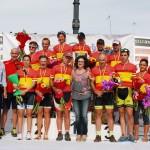 Podio con todos los campeones de España de BTT Maratón 2014.