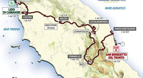 Mapa de la edición 2015 © RCS