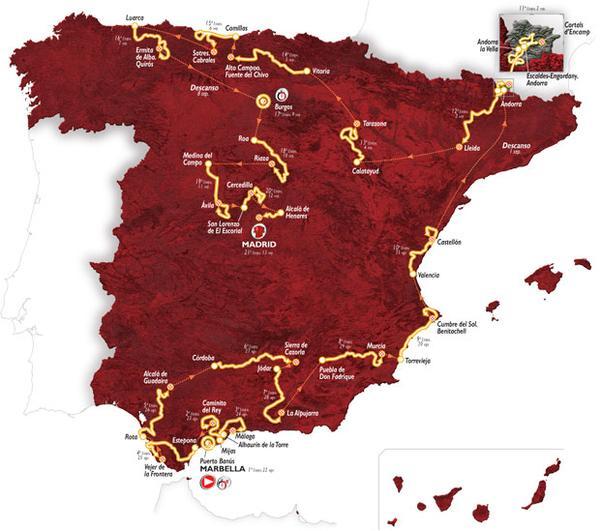 Mapa de la edición 2015