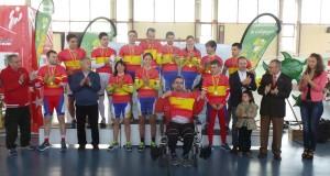 Campeones de España de pista de ciclismo adaptado © RFEC