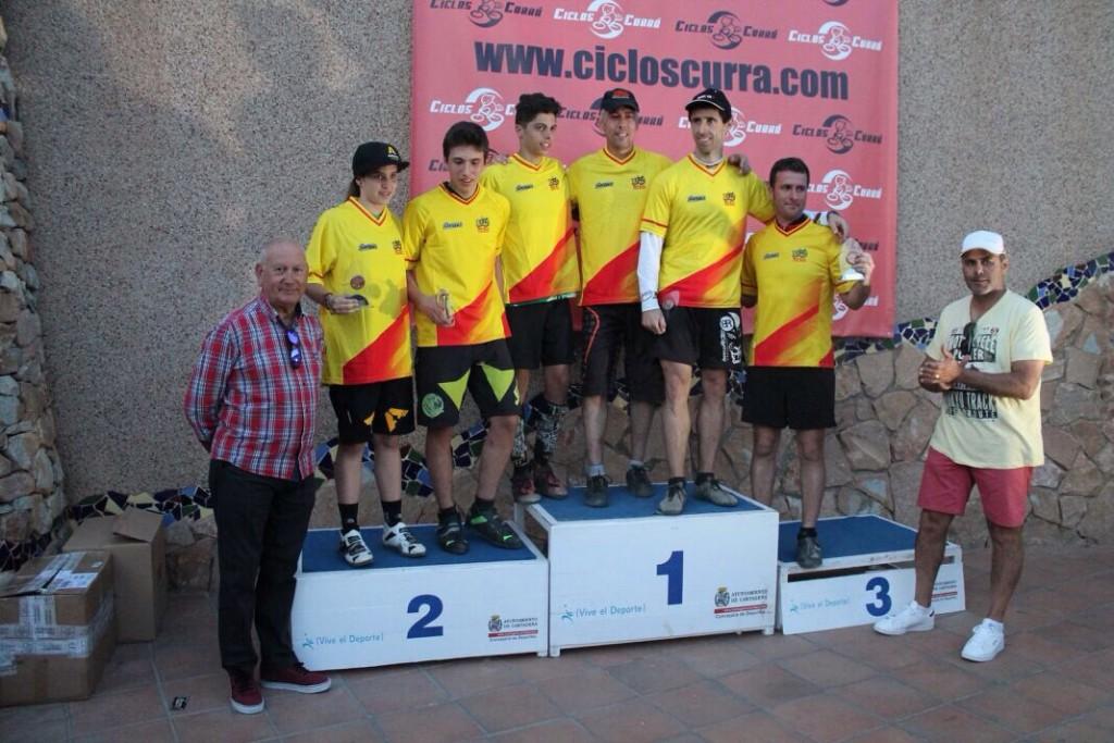 Podio con los ganadores de la Copa de España de trial © FCRM