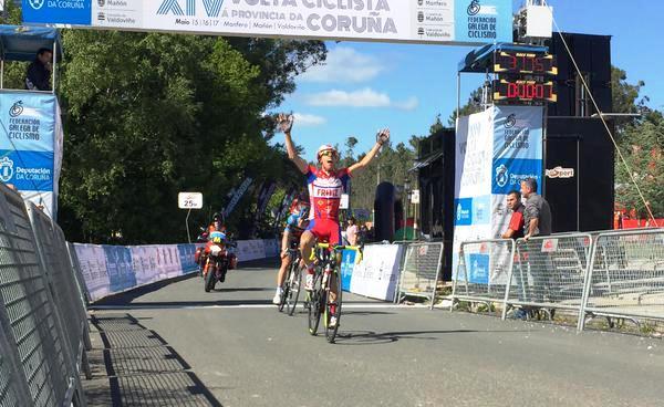 Pedro Merino, ganando la primera etapa © FGC