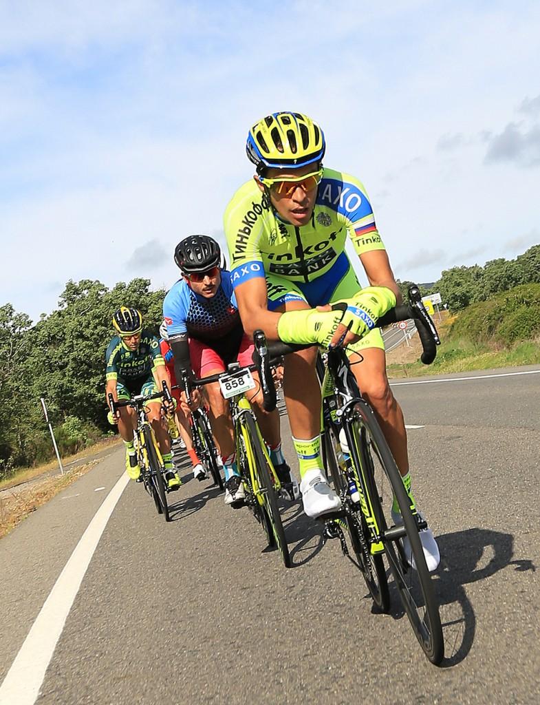 Contador rodó siempre en las posiciones de cabeza.