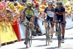 Contador y Valverde © Movistar