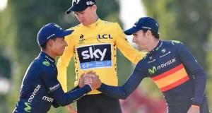 Quintana, Froome y Valverde © twitter