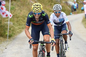 Valverde y Quintana en La Croix de Fer © Movistar