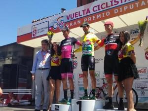 Podio final con Cristian Rodríguez entre Jorge Arcas y Sergio Rodríguez © ElPeloton