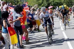 El ataque de Quintana a Froome © RTVE