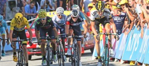 Valverde y Contador, en meta © Movistar