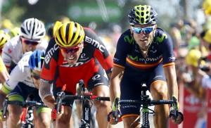 Valverde, tercero © Movistar