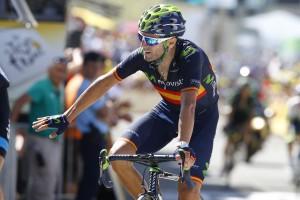 Valverde en meta © Movistar