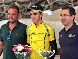 Pol Hervás se vistió el maillot de líder de la Copa Catalana en La Galera.