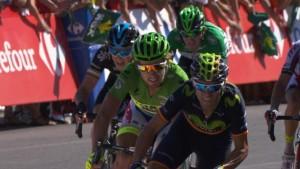 Valverde ante Sagan © twitter