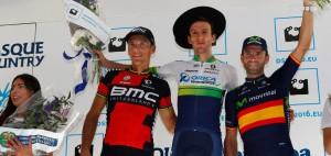 Gilbert, Yates y Valverde © Movistar