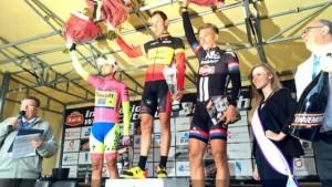 Contador, Van Hecke y Kittel © sporza
