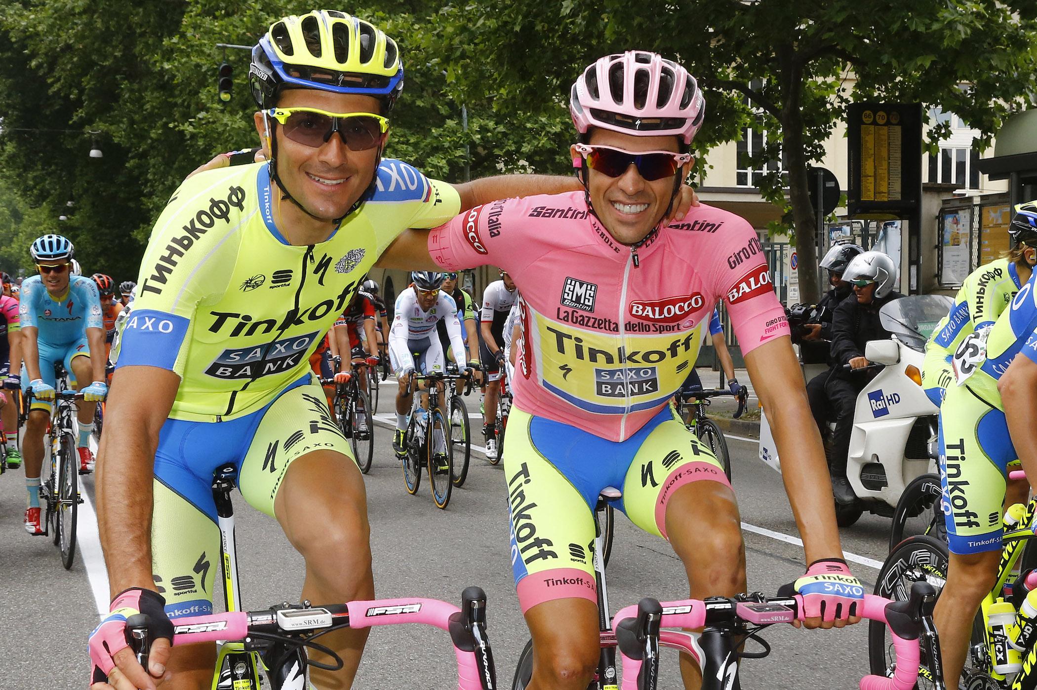 Basso y Contador en el Giro © Tinkoff