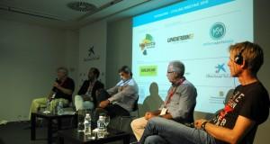 De izda. a dcha., los ponentes Ricardo Marqués, Carlos Núñez, Toni Amat, Víctor Tarodo y Peter Eich.
