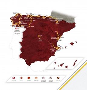 Mapa de la Vuelta 2016