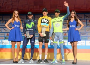 Izagirre, Thomas y Contador © Volta Algarve