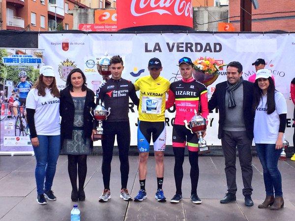 Cuadros, entre Jurado y Sureda, el podio del 25º Trofeo Guerrita © F. A. Contador