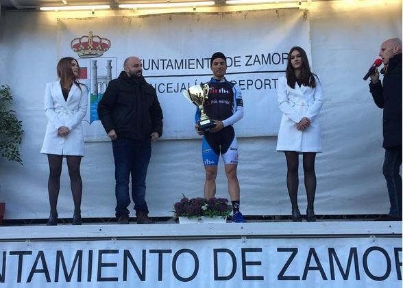 Diego Pablo Sevilla, en el podio de Zamora © rafaeldiazjusto