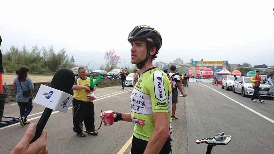Schulting, tras ganar la etapa © Tour Taiwán