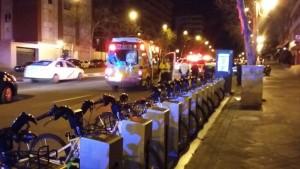 Lugar del accidente © Emergencias Madrid