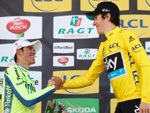 Thomas saluda a Contador © Sky