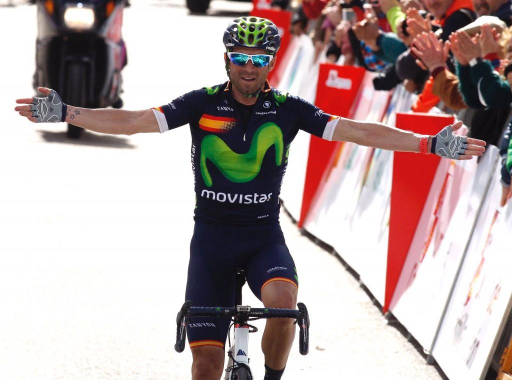 Así cruzaba Valverde la meta en Fermoselle © Movistar Team