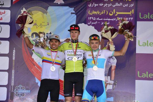 Podio de la etapa © Irán Cycling