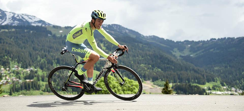 Contador, en plena subida © ASO