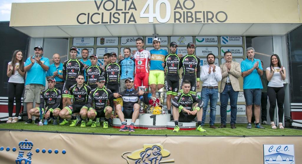Podio completo de la 40ª Volta ao Ribeiro © AGCR