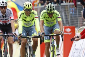 Contador llega a Cherburgo © Bettini