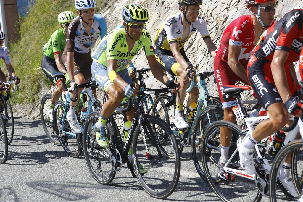 Contador, durante la etapa © Bettini