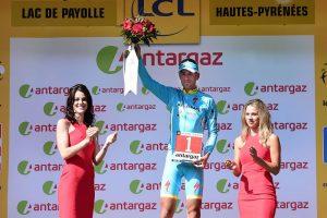 Nibali, en el podio © ASO